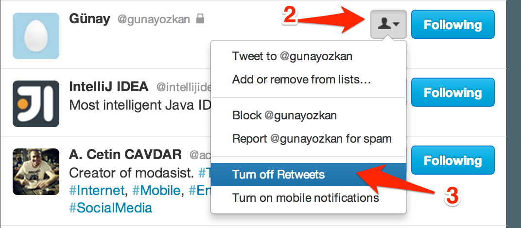 How to turn off retweets on twitter without blocking your ...