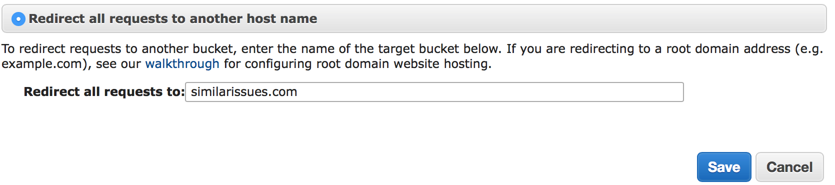 Redirect all requests to another host name